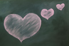 Red heart in chalk Royalty Free Stock Images