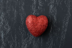 Red Heart on a Chalkboard Royalty Free Stock Photos