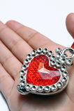 Red heart in child hand Stock Photo