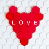 The red heart of the children`s mosaic Royalty Free Stock Photo