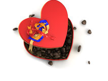 Red heart chocolate box Royalty Free Stock Photo
