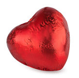Red heart chocolate isolated on white Stock Image