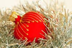 Red heart Christmas ball Stock Image