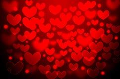 Red heart Christmas bokeh Royalty Free Stock Photo