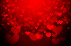 Red heart Christmas bokeh background Stock Photos