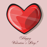 Red heart classic valentines day vector illustration Royalty Free Stock Photography