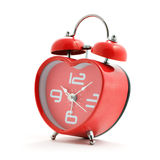 Red heart clock Royalty Free Stock Photos