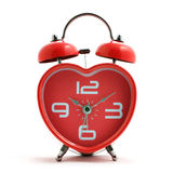 Red heart clock Stock Image