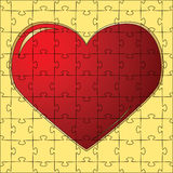 The red heart collected from puzzles Royalty Free Stock Photos