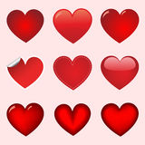 Red  heart collection Stock Images