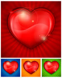 Red heart on color Royalty Free Stock Photos