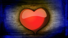 Red heart on colorful animated background for Valentine's day stock video