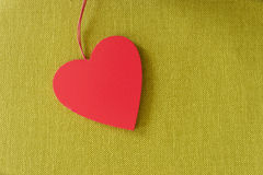 Red heart. On colorful background royalty free stock image