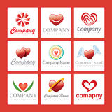 Red heart company logos. A set of red heart company logos Stock Image