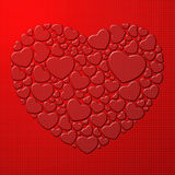 Red heart composed of small hearts Stock Photography