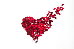 Red heart confetti Royalty Free Stock Photography