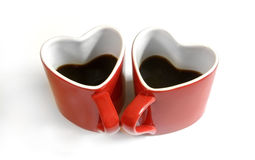 Red heart cup of coffe Stock Image