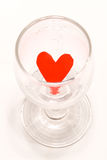 Red Heart in the cup. On a white background Stock Photo