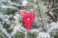 Red heart. Cute red heart - love symbol royalty free stock photo