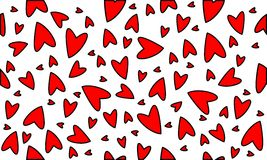 Red heart. Cute pattern with red heart Stock Photography