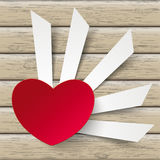 Red Heart Cutting Banners Royalty Free Stock Photo