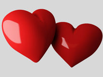 Red heart, 3d Illustration Royalty Free Stock Image