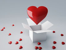 Red heart 3d render Royalty Free Stock Photography