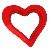Red heart, 3d Stock Photo