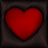 Red Heart on Dark Background Royalty Free Stock Photos