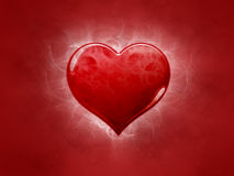Red heart with decoration Stock Photos
