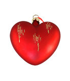 Red heart decoration Stock Images
