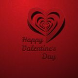 Red Heart Decorative With Shadow Valentine's day. Vector illustration Postcard Royalty Free Stock Photo