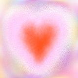 Red heart design blur background Royalty Free Stock Image