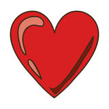 red heart design icon with shiny Royalty Free Stock Photography