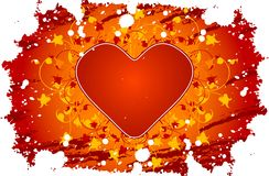 Red heart and designs Stock Image