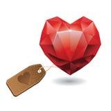 Red heart diamond Royalty Free Stock Photos