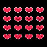 Emoticons Heart Color 29 Royalty Free Stock Images