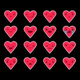 Emoticons Heart Color 32 Royalty Free Stock Image