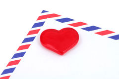 Red heart and envelope Royalty Free Stock Photo