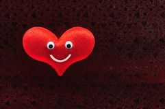Red heart face happy smile Stock Image