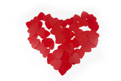 Red heart from a few hearts Stock Images
