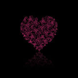 Red Heart Filled With Butterfly Royalty Free Stock Images