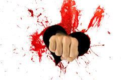 Red heart and fist in it Stock Image
