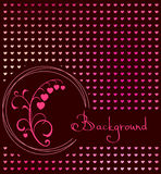 Red heart floral background Stock Images