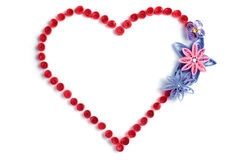 Red heart with flowers Stock Images