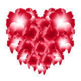 Red heart of flowers Royalty Free Stock Photos