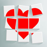 Red heart folded cubes Royalty Free Stock Photo