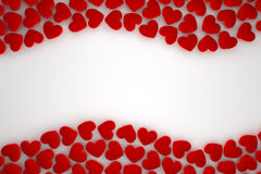 Red heart frame. With white background Stock Photography