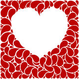 Red heart frame Royalty Free Stock Images