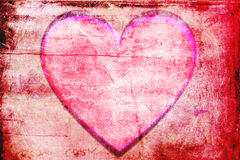 Red heart frame background Stock Photography